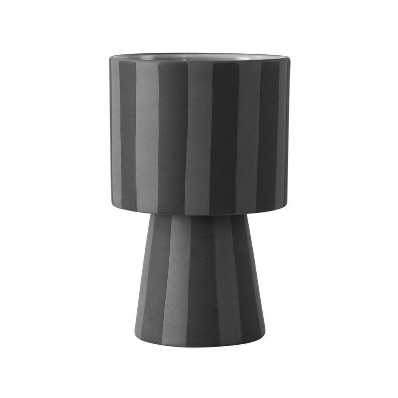 Toppu Pot Small, Grå & Svart