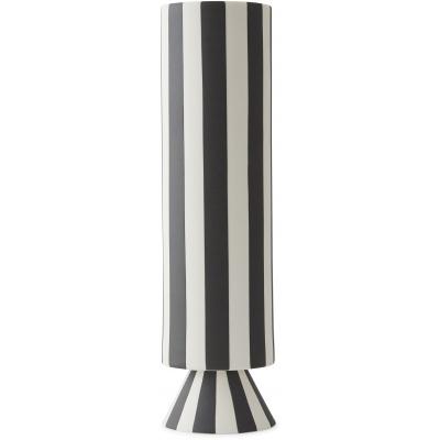 svart-vit vas