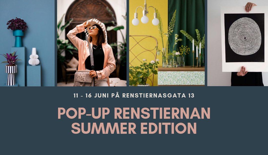 Äntligen – Plantedli POP-UP Välkomna till RENSTIERNAN POP-UP 11-16 juni