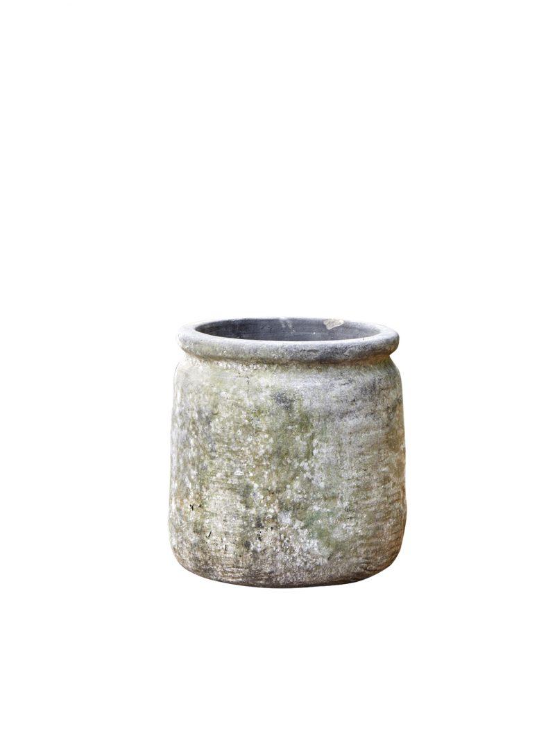 grå patinerad kruka