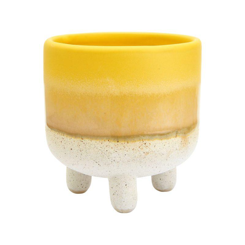 gul kruka med fötter mini